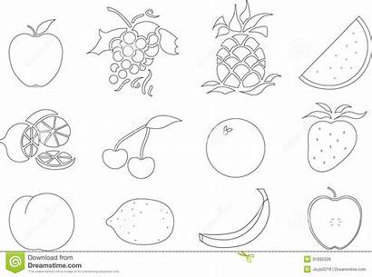 Fruit Coloring Salad Pages Own Outs Template