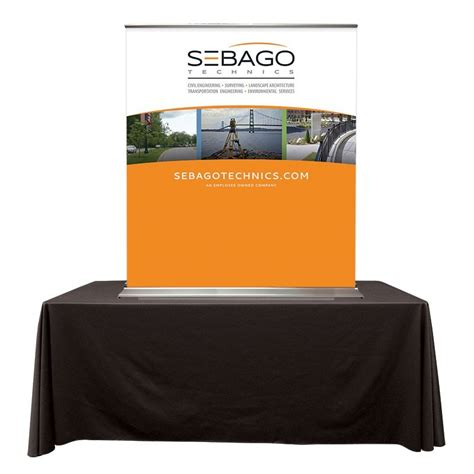 table top banner display superscreenxl 48 92 quot table top banner stand