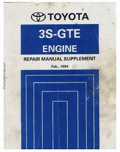Toyota Engine 3s-gte Repair Manual Supplement 1994