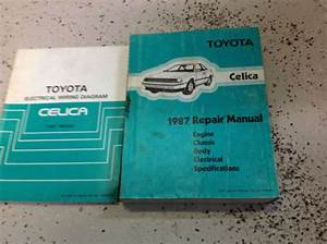 1987 Toyota Celica Service Repair Shop Manual Set Factory