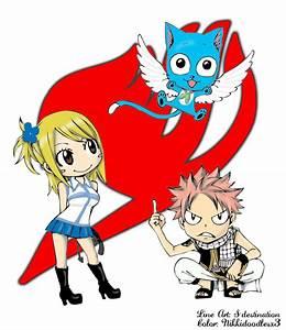 FairyTail:Natsu - Lucy - Happy by nikkidoodlesx3 on DeviantArt