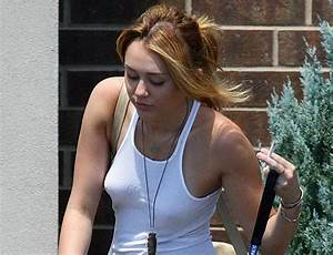 Miley Cyrus Showing Her Nipples Under A Shirt