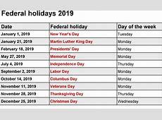 Download UK Federal Holidays Holidays 2019 [Public