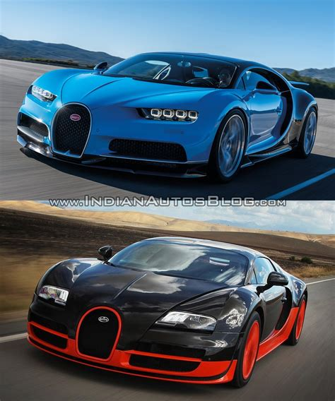 Bugatti Veyron Vs by Bugatti Veyron Vs Bugatti Chiron In Images