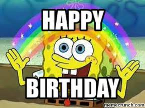 Spongebob Birthday Meme - happy birthday spongebob