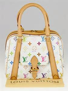 louis vuitton white monogram multicolore canvas priscilla
