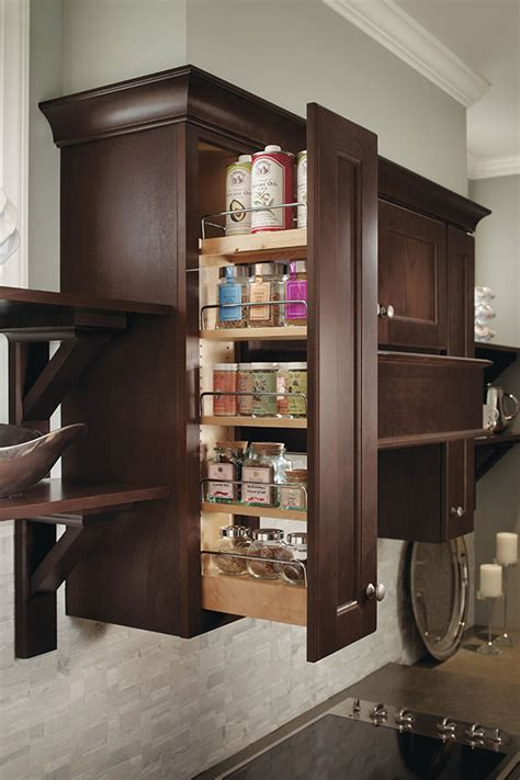 Cabinet Spice Rack Pull Out - wall spice pull out cabinet homecrest cabinetry
