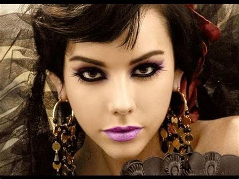 gothic makeup tutorial femme fatal seductive dark eye liner makeup   indian skin youtube