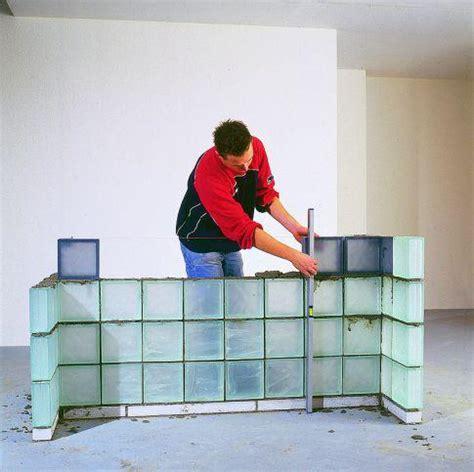 Wand Aus Glasbausteinen by Glasbausteine Verlegen Selbst De