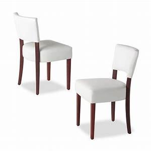Chaise de salle a manger en bois et synthetique steffi for Salle À manger contemporaineavec chaise blanche pied bois