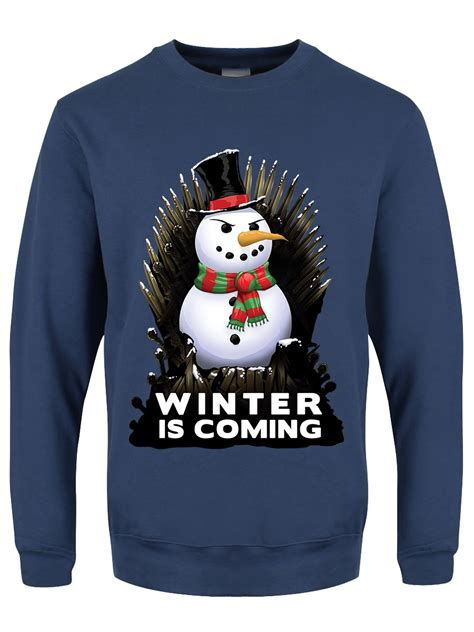 winter is coming sweater winter is coming 39 s airforce blue sweater