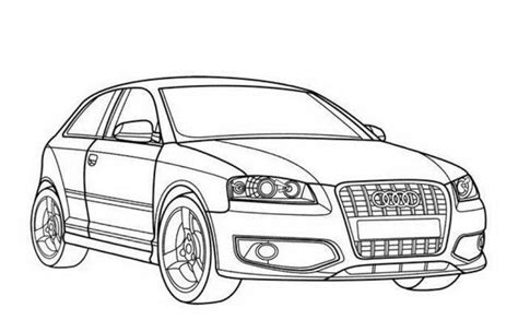 Kleurplaat Bmw E60 by Audi S3 Car Coloring Pages Printable Free Cars Page