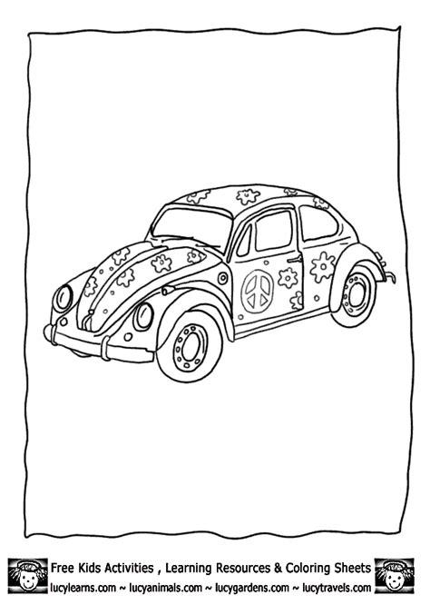 hippie beetle car drawing hippystyle - Google zoeken
