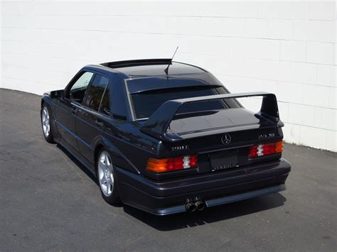 The engineers managed to squeeze out an impressive 235 bhp, but the true highlight of the evo ii was the aero kit that featured a towering rear spoiler, imposing flaired arches, and an even more aggressive front splitter. 1990 Mercedes-Benz 190E EVO II for sale #98511 | MCG