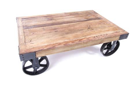 table basse industrielle sur roues tables basses ma
