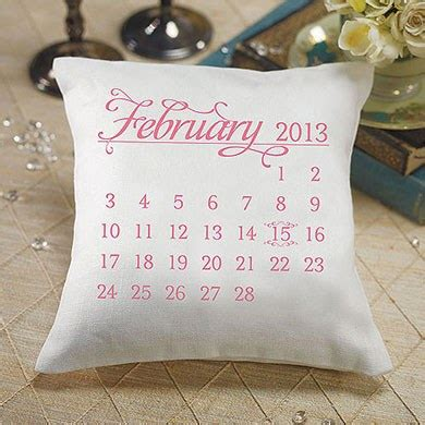 quot notable quot personalised ring cushion with wedding date design confetti co uk