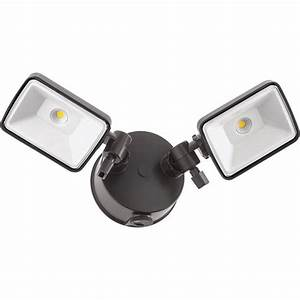 Lithonia lighting bronze outdoor integrated led square wall mount flood light with dusk to dawn