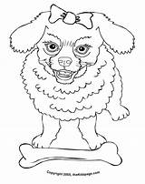 Poodle Coloring Pages Colouring Printable Cartoon Poodles Drawing Sheets Dog Template Getdrawings 50s French Sheet Popular sketch template