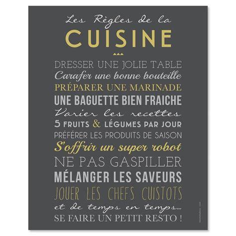 toile pour cuisine mes mots déco les règles de la cuisine stickers