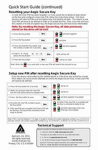 Aegis Secure Key Qsg2  Quick Start Guide  Continued