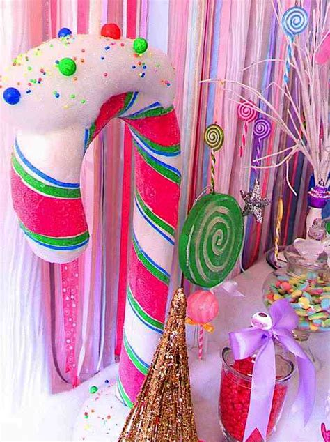 karas party ideas glittery christmas candy land sweet