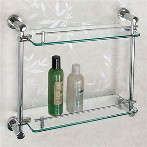 Ceeley Tempered Glass Shelf - Two Shelves - Bathroom