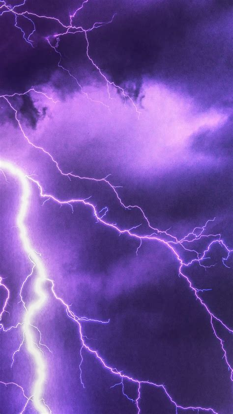 purple lightning  uhd wallpaper