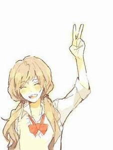 #anime girl #peace sign | Original/Random Anime ...