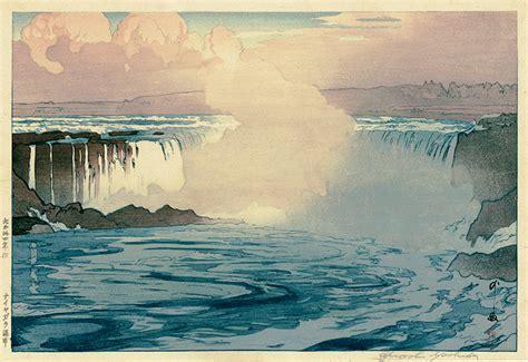 niagara falls  hiroshi yoshida annex galleries fine prints