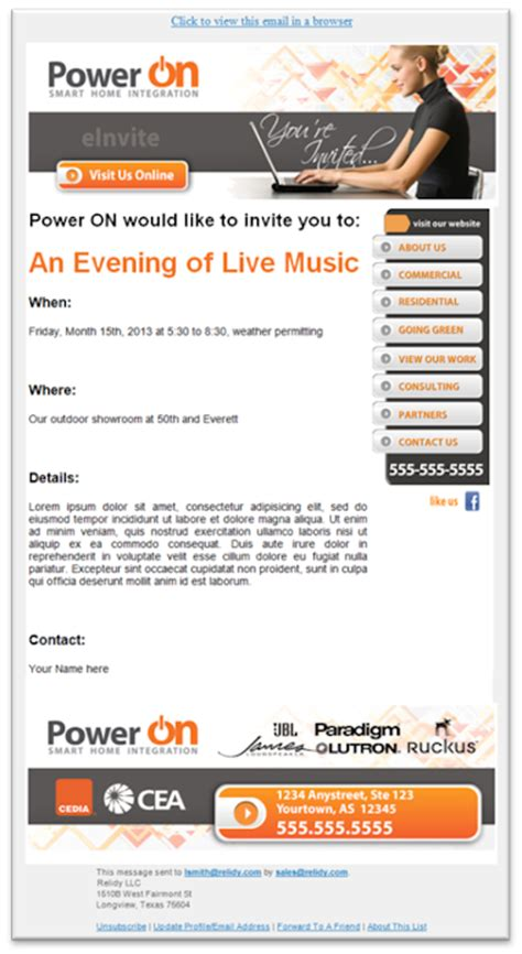 event invitation email template event invitation email sle