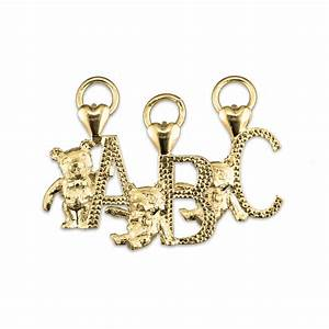 teddy bear alphabet letter pendant charms direct With letter charms