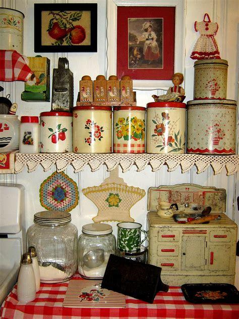 Red Vintage Kitchen  Country Kitchen Decor & Vintage