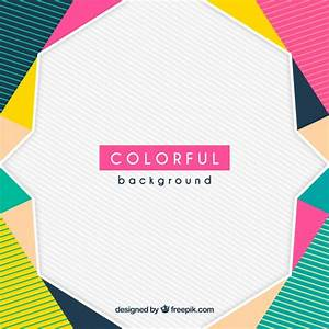 Colorful geometric background Vector Free Download