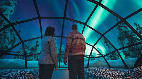 Snow Igloos In Finland Watch The Northern Lights