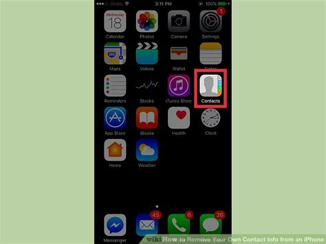 how to delete contacts from iphone 5 how to remove your own contact info from an iphone 5 steps 3286