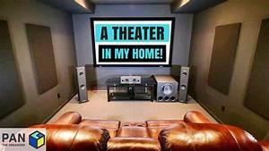 A, Movie, Theater, In, My, Home, Man, Cave, Tour, U0026, Home, Theater, Setup