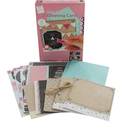 Make Your Own 3d Greeting Cards  Blank Cards At The Works