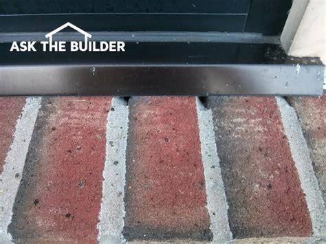 brick window sill leaking   builder