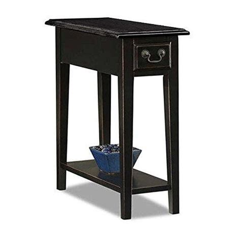 country table ls living room country style narrow nightstand rectangle wooden black