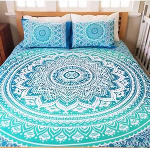 Deep Blue Mandala Queen Bed Cover The Yoga Mandala Store