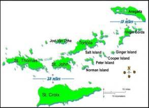 Puerto Rico Us Virgin Islands Map