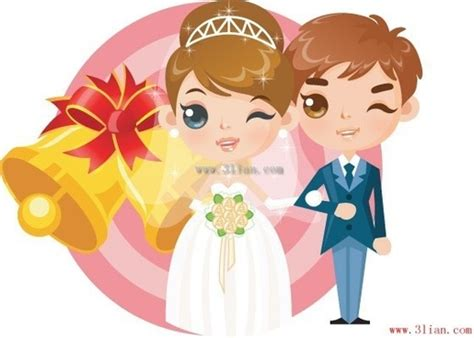 Cartoon Pictures Bride And Groom Free Vector Download