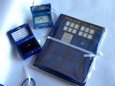 doctor who wedding package tardis wedding ring box with light starry ring box and