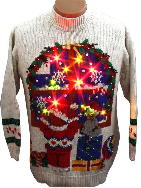 ugly light up christmas sweaters light up ugly christmas sweater jennifer moore unisex