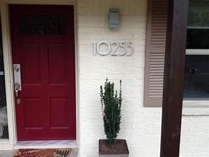 modern house numbers customer photo modern exterior With exterior house letters
