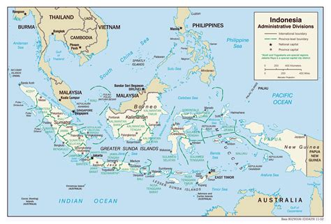 large detailed administrative divisions map  indonesia