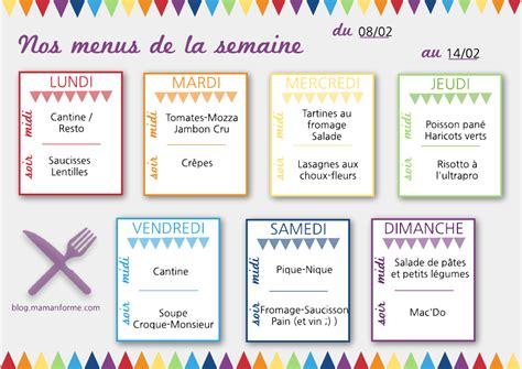 menu semaine cuisine az nos idées menus pour la semaine 4 le journal d 39 une mam