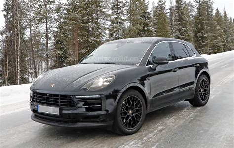 porsche car 2018 2018 porsche macan facelift spied undergoing winter