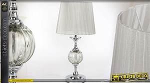 Lampe De Salon De Style Rtro Avec Pied Effet Cristal Et