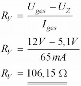 Vorwiderstand Berechnen Formel : spannungsstabilisierung mit z diode ~ Themetempest.com Abrechnung